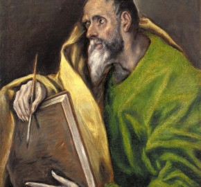 St. Luke Painting by El Greco. Indianapolis Museum of Art