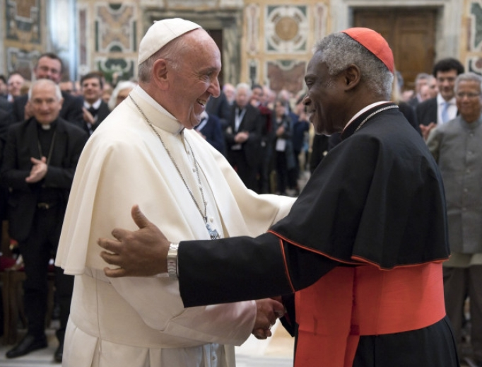 Pope Francis and Cardinal Peter Turkson